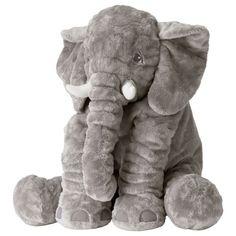 IKEA Klappar Elefant 24in 60cm Big Elephant Plush Soft Toy Stuffed Animal
