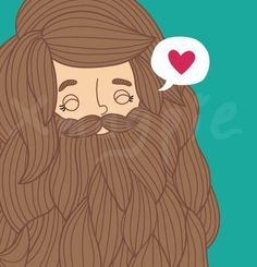 Print from Etsy. She's the cutest bearded lady I've ever seen! Bearded Lady, Bearded Men, Beard Art, The Beauty Department, Heart Day, Beard Love, Modern Pictures, Love You More Than, Make You Smile