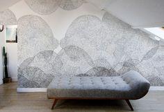 cloudy walls