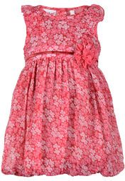 Featuring a pretty print all over, this red coloured dress from Nauti Natti will certainly make your little lady look adorable. The attractive floral detailing further enhances the overall look of this dress. Made from poly chiffon, this bubble dress is light in weight and will keep your angel comfortable all day long.