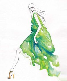 Ideas Fashion Illustration Watercolor Water Colors Drawings For 2019 Fashion Illustration Dresses, Fashion Sketches, Fashion Illustrations, Fashion Sketchbook, Illustrations Posters, Art And Illustration, Watercolor Water, Watercolor Fashion, Eiffel