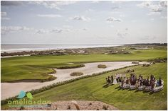 A sweeping view of this wedding at the @kiawahresort Ocean Course