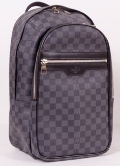Рюкзак Louis Vuitton (Луи Виттон) в черно-серую клетку