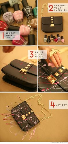 Great idea! Finally I can put to good use those nail polishes...