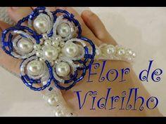 Flor de vidrilho e pérolas - YouTube