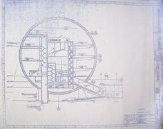 This is an actual blueprint of the site plans for disneys epcot i wonderful 24 x 36 blueprint of the wdw epcot spaceship earth sections view made the old fashioned way with ammonia activated paper on a diazit malvernweather Gallery