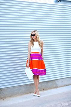 Summer is the perfect time to wear bright colors and show off your bold sense of style! This Neon Skirt is great for a night out on the town and showing off those smooth, sexy legs.