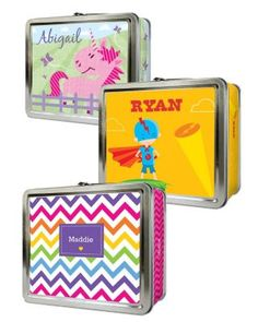 Personalized Metal Lunch Box or Storage ContainerI'm really tempted to buy these lunch boxes for the girls, I could throw them in the sink  in the milkhouse and sanitize them with the  milking units...