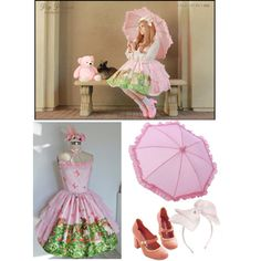 """tea party w/teddy"" by diaparsons on Polyvore"