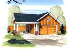 Garage Plan chp-47846 at COOLhouseplans.com