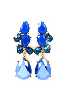 Daniella Earrings in Sultry Blues