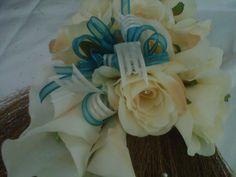 Cream & Turquoise Broom
