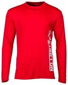 Major League Fishing No Limits Long-Sleeve T-Shirt for Men - Red - 2XL