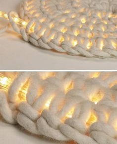 Use this technique to cover the rope lights before hanging them under the loft bed.