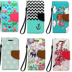 Wallet Pouch PU Leather Flip Case Cover For iPod Touch 5 5th Gen +Protector #UnbrandedGeneric