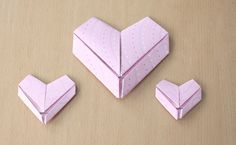 Origami Hearts Tutorial  Posted on February 7, 2012 at 8:00 am  in Paper Crafts, Tutorials, design