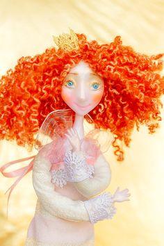 Handmade dolls Cute Fairy Sweet doll Valentines day doll OOAK fairy doll by Chydiki