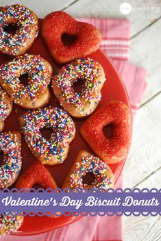 Biscuit donuts - a fun, tasty and easy Valentine's breakfast idea!