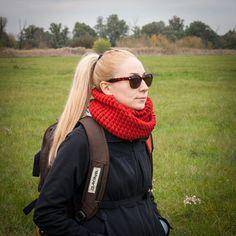 Orange Hand Crochet Neckwarmer / Brick Colour Fall Winter Neckwear / Long Double Wrapped Orange Red Warm Shawl / Winter Fashion Gift Idea