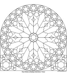 Don't Eat the Paste: Rose Window at St. Denis to color