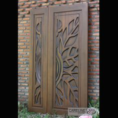 Our Teak wooden doors are designed and manufactured by a team of designers from CareLine Studio with over 20 years experience in multiple countries including Europe U.A and Southeast Asia. - October 12 2019 at Double Doors Interior, Door Design Interior, Office Furniture Design, Double Barn Doors, Interior Barn Doors, Solid Doors, Furniture Ideas, Wooden Main Door Design, Door Gate Design