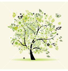 Floral tree vector 77557 - by Kudryashka on VectorStock®