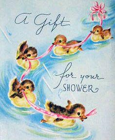 vintage baby shower card by jarmie52, via Flickr
