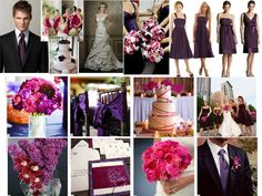 Deep Purple and Bright Pink : PANTONE WEDDING Styleboard : The Dessy Group