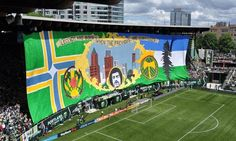 Portland Timbers giant TIFO throws down gauntlet to Seattle ...