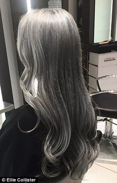 Ellie says: 'It was a real risk to go grey, but I wanted to do something different'