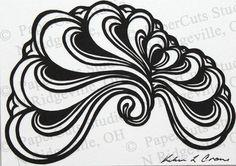 Fan Papercut ACEO Handcut Original by ePaperCuts on Etsy, $28.00