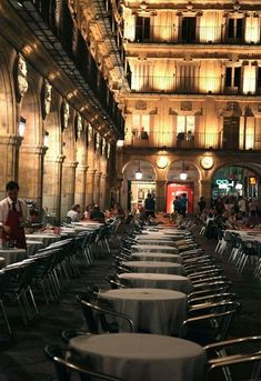 An outdoor café in Plaza Mayor, in Salamanca, Spain. Could sit here forever. Never forget meg & lauren's trip:) Places Around The World, The Places Youll Go, Places To See, Around The Worlds, Sidewalk Cafe, Outdoor Cafe, Spain And Portugal, What A Wonderful World, Dream Vacations