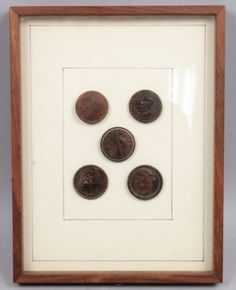 Antique-19c-Cased-Unusual-Group-Carved-Wood-Buttons-Aesop-Fox-Egret-Man-in-Moon