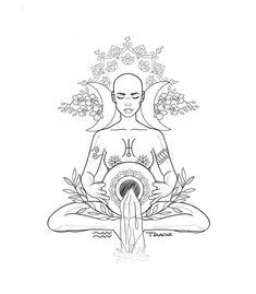 Login - Login You are in the right place about Login Tattoo Design - Aquarius Art, Aquarius Tattoo, Aquarius Zodiac, Tattoo Drawings, Body Art Tattoos, Art Drawings, Wicca, Goddess Tattoo, Moon Goddess