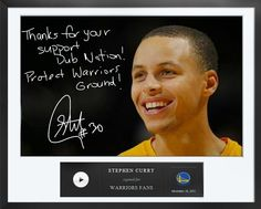 An Egraph from Stephen Curry to Warriors fans