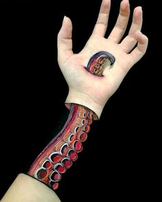 Body Artist Paints Surreal Optical Illusions Down Her Own Arms - My Modern Met
