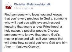 Christian relationship talk