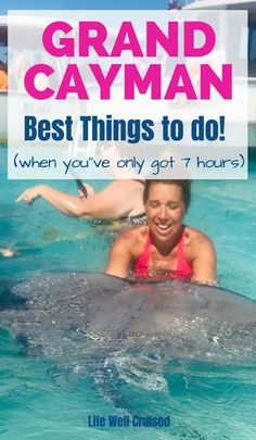 If you're cruising and heading to Georgetown, Grand Cayman, it can be overwhelming to figure out what to do. Here's a great guide to the best activities, excursions and things to do when visiting Grand Cayman as a cruiser. Learn my favorites and the most popular activities when in port. #grandcayman #grandcaymancruise #stingraycity #grandcaymanthingstodo #cruiseexcursions #caribbeancruise