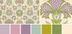 muted vibrance : purple green cream