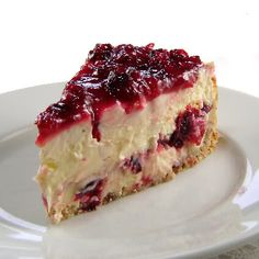 Cranberry Layered Cheesecake