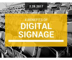 Today, most business are moving their static marketing pieces to a digital signage solution. Why? Because they understand the importance of engaging their customers in a cost-effective manner. Although it does require an upfront investment, the ROI can be quite impressive.