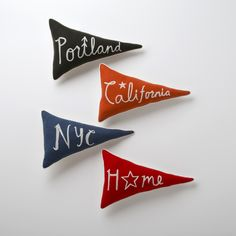 Pennant Pillows - these are adorable!