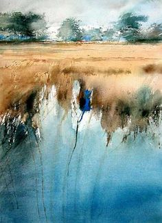 C r e a t i v e W o n d e r: Watercolors of waterscapes . . . so otherworldly to me . . . Xavier Swolfs . Zandhoven . Belgium #watercolor jd