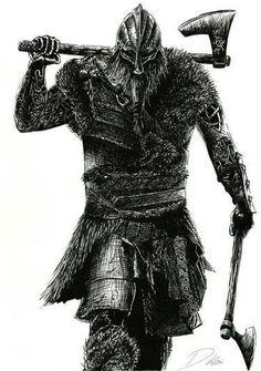 "Képtalálat a következőre: ""for honor axe heads"" Viking Berserker, Axe Tattoo, Norse Tattoo, Art Viking, Viking Life, Vikings Tatoo, For Honor Viking, Tattoo Avant Bras, Viking Drawings"