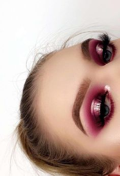 a06996a18d1 Tina Halada on Beautiful metallic deep pink eyeshadow look – I love how  much a halo eye look makes your shadow pop!