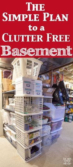 Tips For An Organized Basement Organization Pinterest Crazy Houses Basements And House
