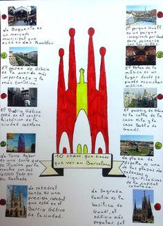 Travaux des élèves. 10 sitios que tienes que ver en Barcelona. (Olé Lardy)