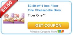 Tri Cities On A Dime: SAVE $0.50 ON FIBER ONE CHEESECAKE BARS