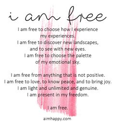 An Affirmation for Personal Freedom
