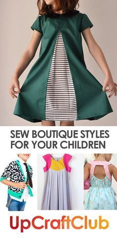These sewing patterns from http://UpCraftClub.com will make you look like a boutique designer every time! Sew for your kids!
